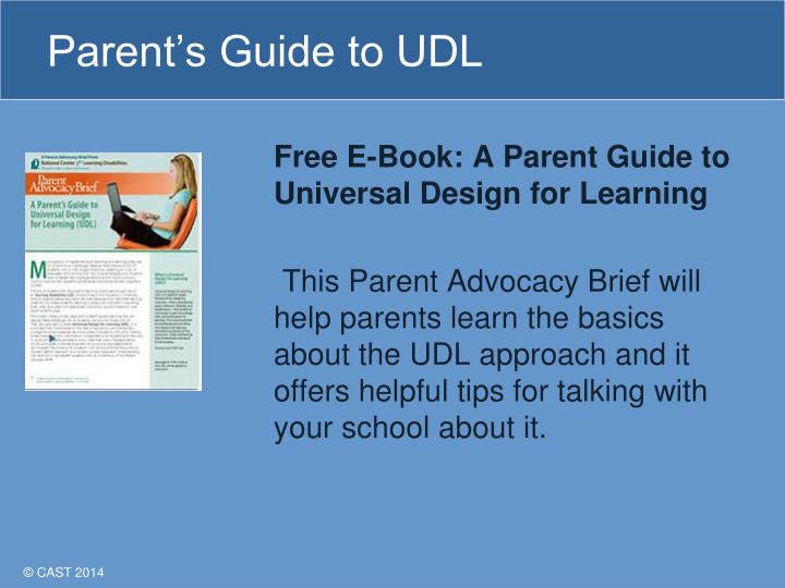 Parent's Guide to UDL