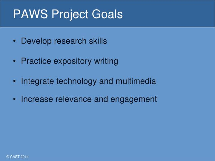 PAWS Project Goals