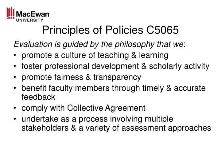 Principles of Policies