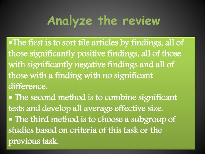 Analyze the review