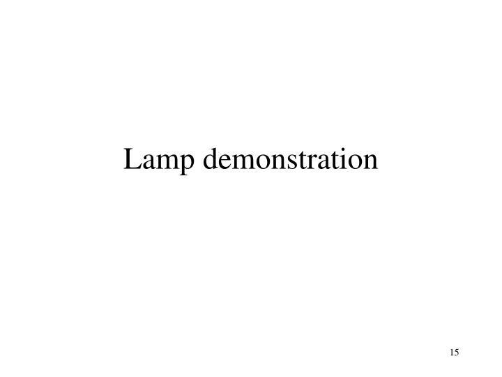 Lamp demonstration