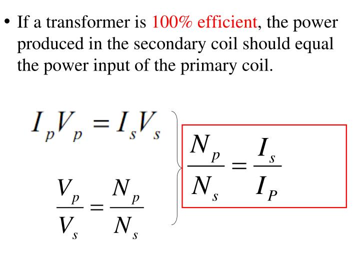 If a transformer is
