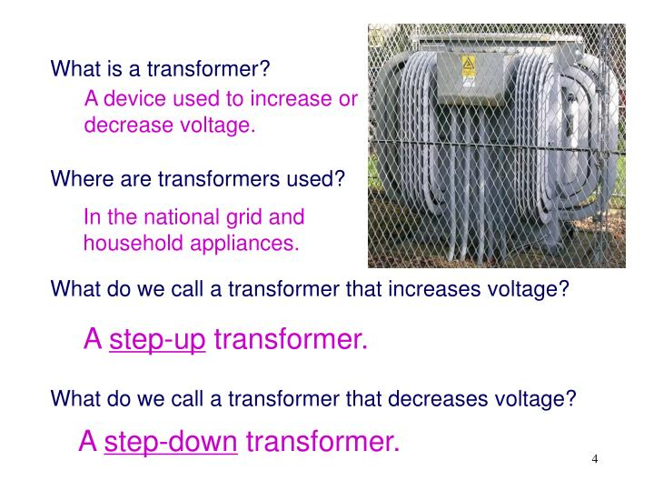 What is a transformer?