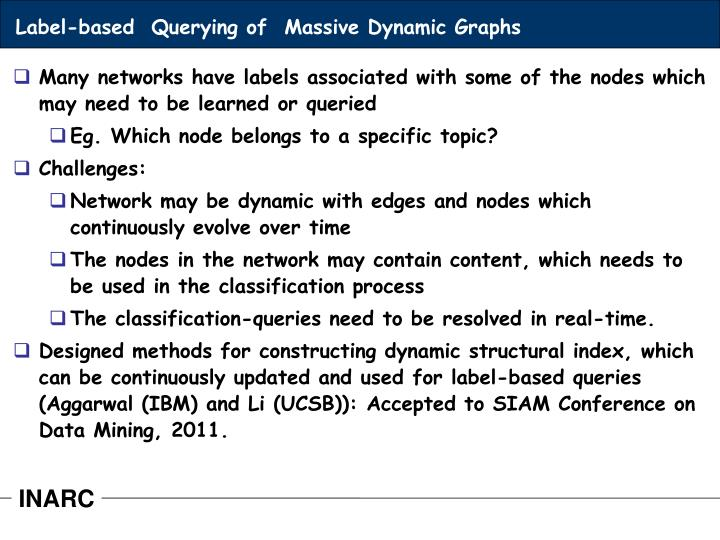 Label-based  Querying of  Massive Dynamic Graphs