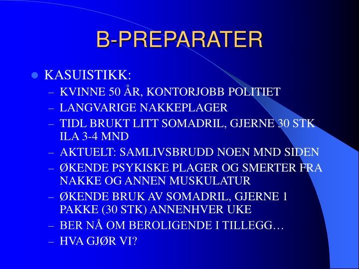 B-PREPARATER