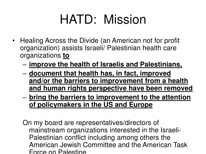 HATD:  Mission