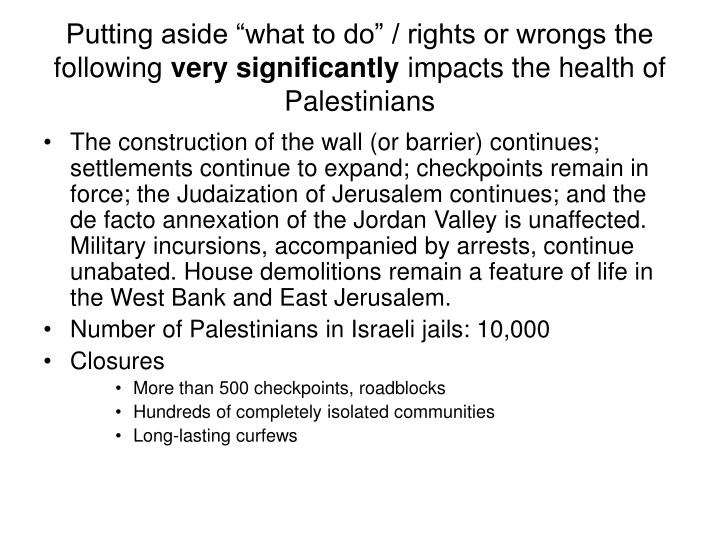"""Putting aside """"what to do"""" / rights or wrongs the following"""