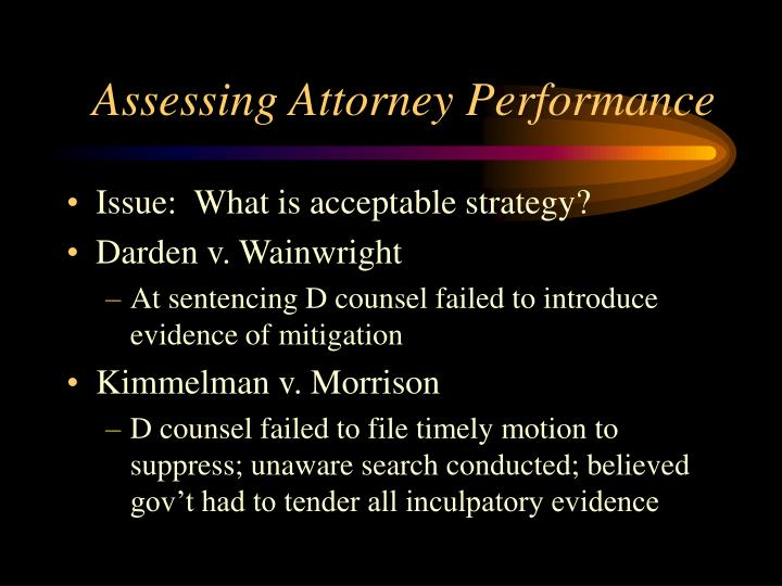 Assessing Attorney Performance