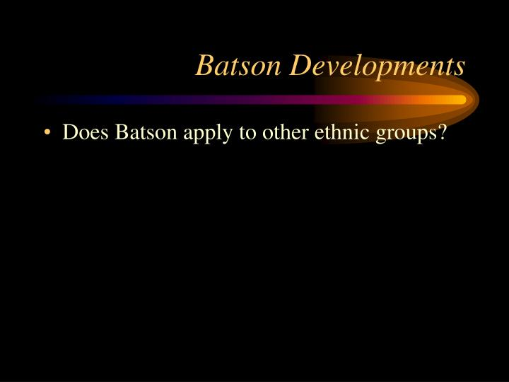 Batson Developments
