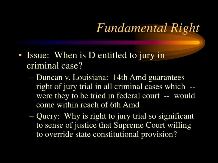 Fundamental Right