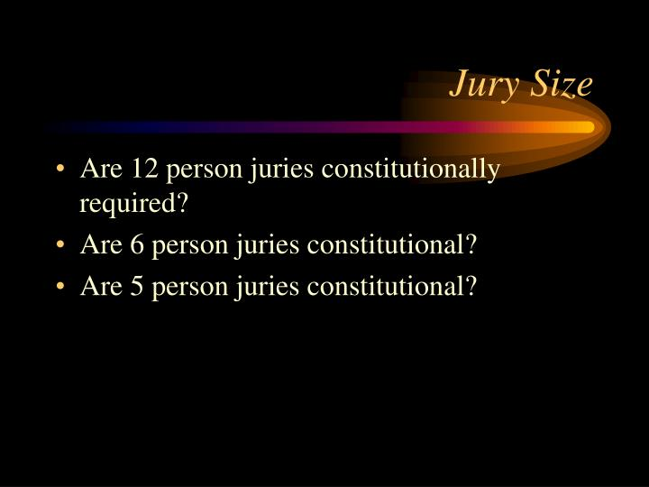 Jury Size