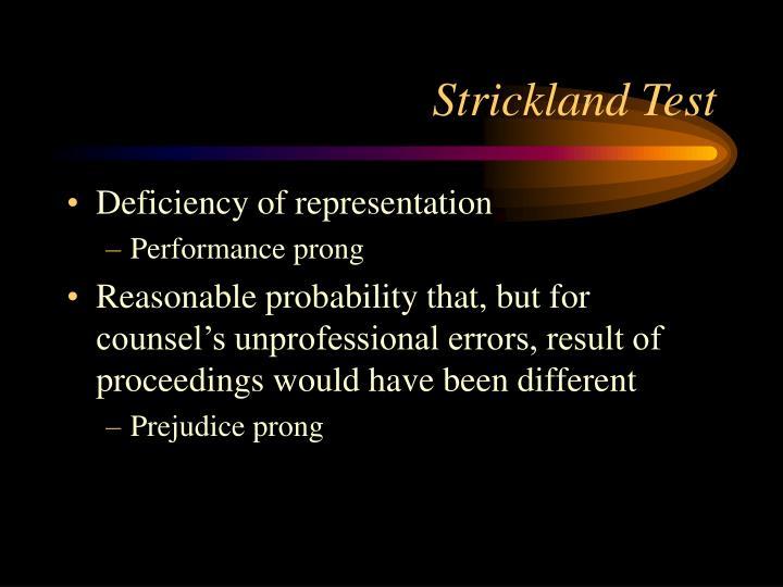 Strickland Test