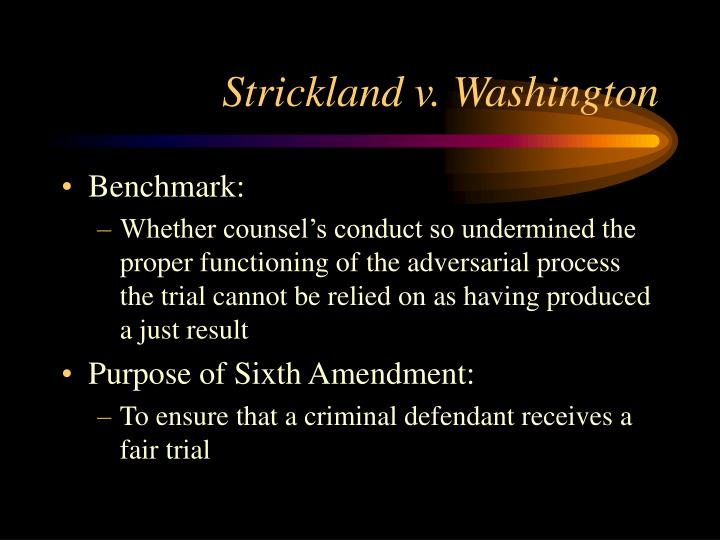 Strickland v. Washington