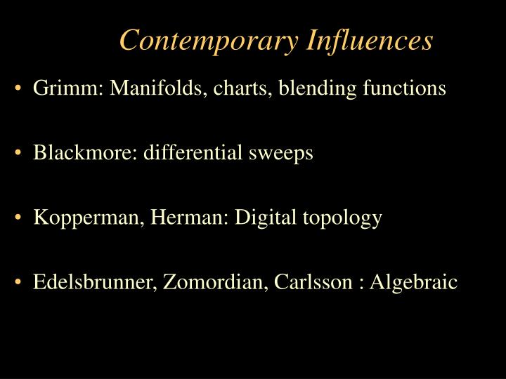 Contemporary Influences
