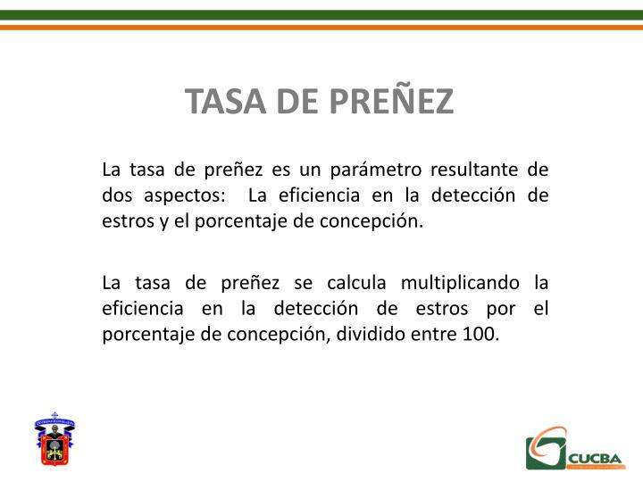 TASA DE PREÑEZ