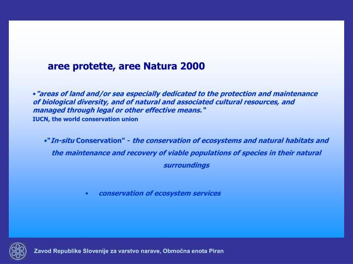 aree protette, aree Natura 2000