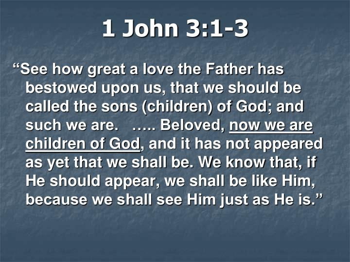1 John 3:1-3