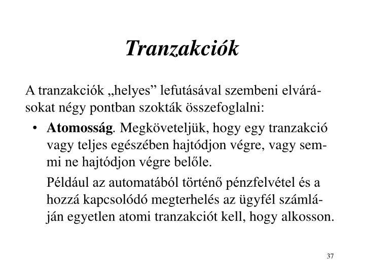 Tranzakciók