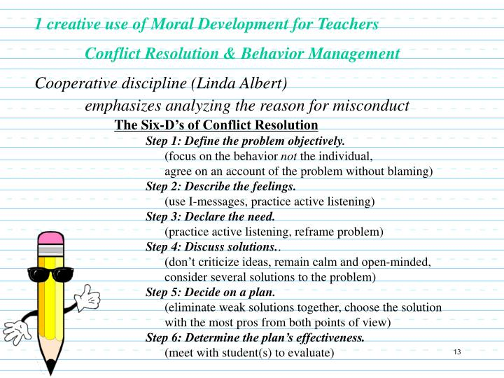 1 creative use of Moral Development for Teachers