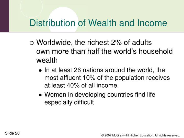 the distribution of income and wealth Income inequality can worsen wealth inequality because the income people have available to save and invest matters focusing on private income, such as earnings and dividends, plus cash government benefits, we see that the income of families near the top increased roughly 90 percent from 1963 to 2016, while the income of families at the bottom .