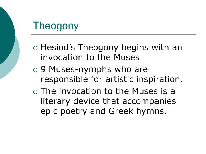 a literary analysis of the theogony by hesiod The theogony and works and days are the earliest greek poems to  both  poems are concerned with the theme of beginnings (of zeus' order.