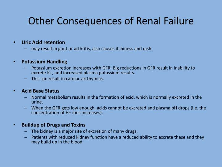 Other Consequences of Renal Failure