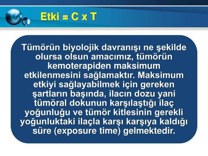 Etki = C x T
