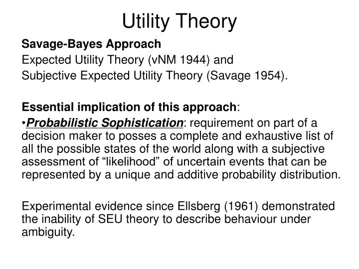 Utility Theory