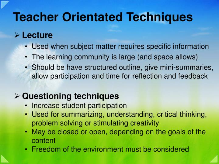 Stimulating critical thinking questioning techniques