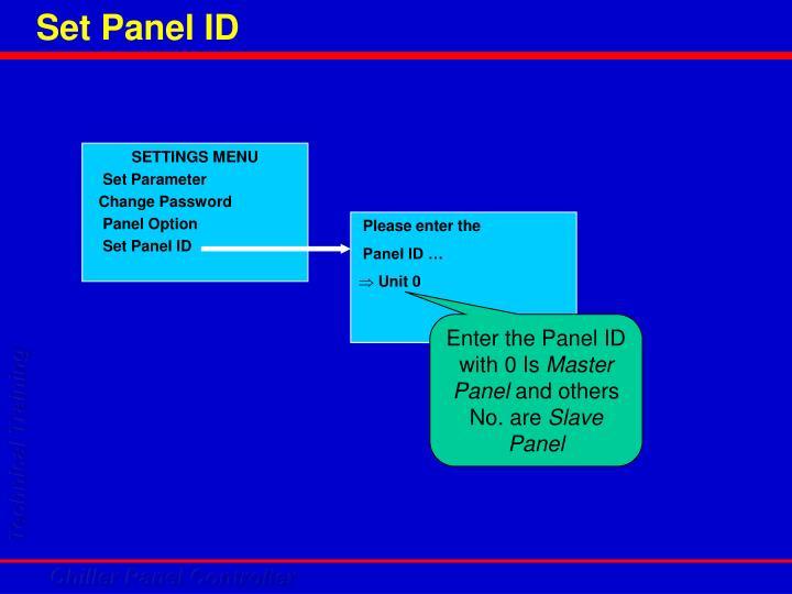 Set Panel ID