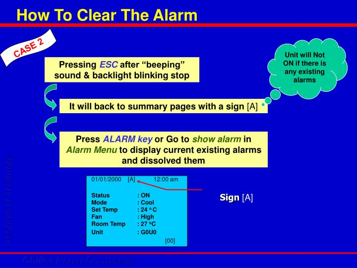 How To Clear The Alarm
