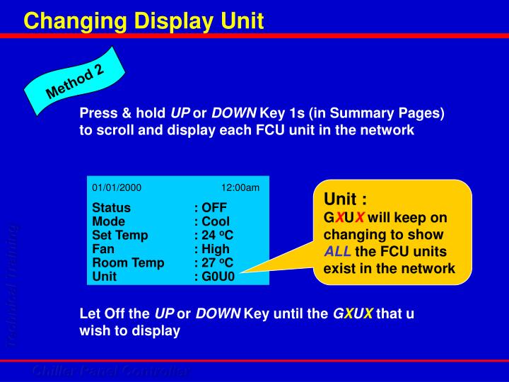 Changing Display Unit