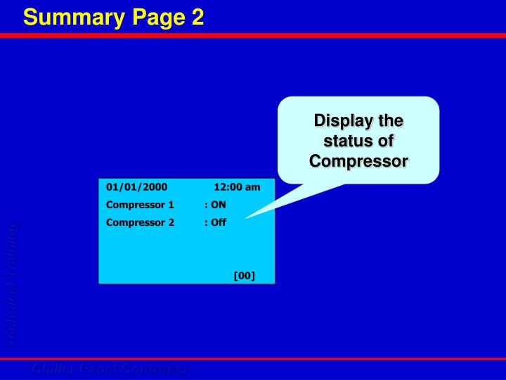 Display the status of Compressor