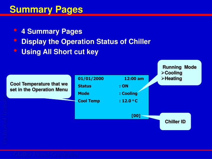 Summary Pages