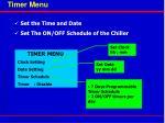 timer menu