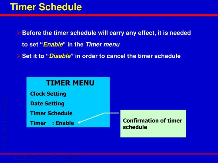Timer Schedule