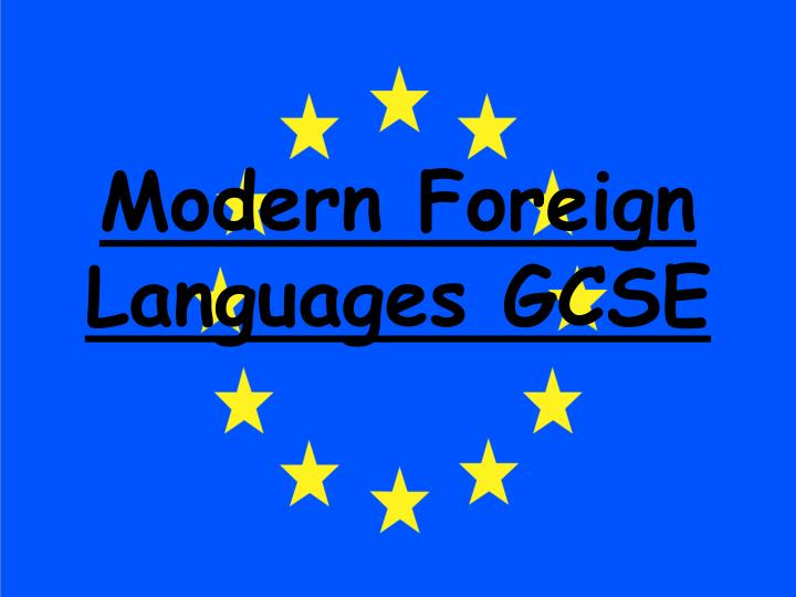 Modern foreign languages gcse