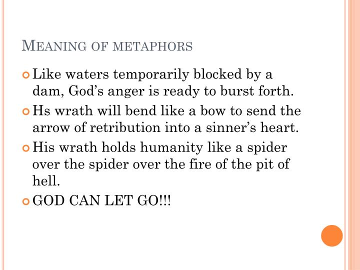 Meaning of metaphors