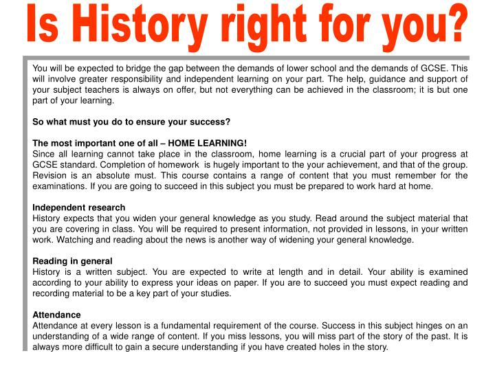 Is History right for you?