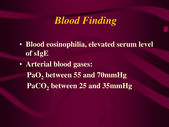 Blood Finding