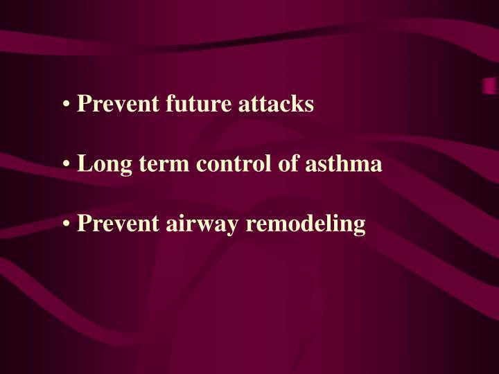Prevent future attacks