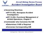 aircraft mishap review process accident investigation board