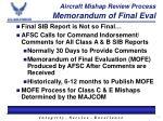 aircraft mishap review process memorandum of final eval