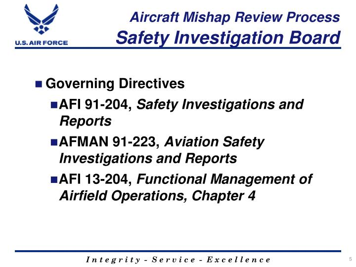 Aircraft Mishap Review Process