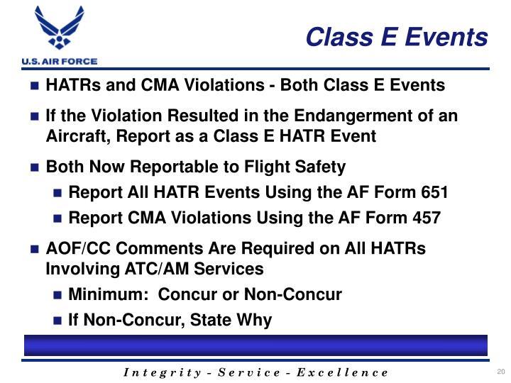 Class E Events