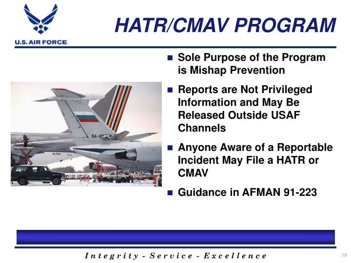 HATR/CMAV PROGRAM