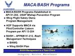 maca bash programs