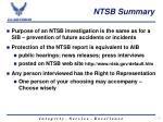 ntsb summary