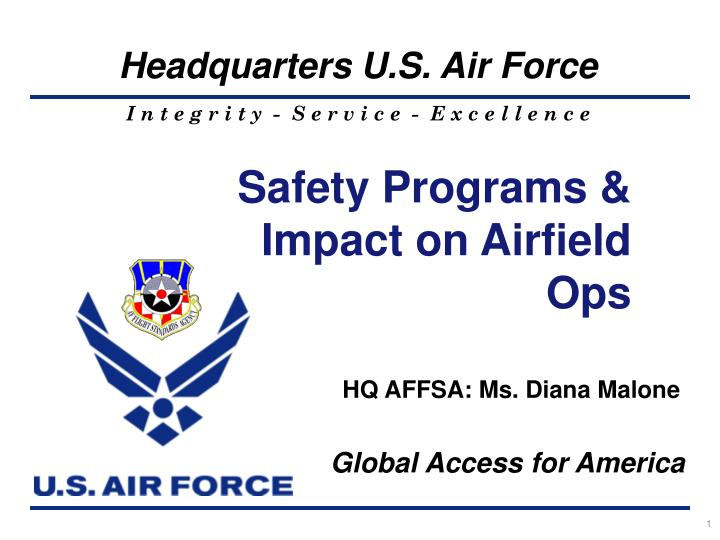 Safety Programs & Impact on Airfield Ops