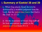 i summary of ezekiel 38 and 391